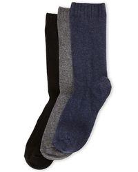 Hue - 3-pack Comfort Top Loafer Socks - Lyst
