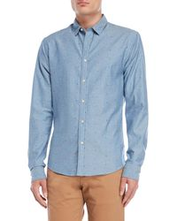 Scotch & Soda - Chambray Printed Sport Shirt - Lyst