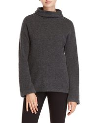 MILLY - Felted Cashmere Sweater - Lyst
