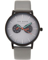 Ted Baker - Te50291006 Black & Grey Watch - Lyst