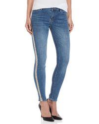 Bebe - Sequin Stripe Skinny Jeans - Lyst