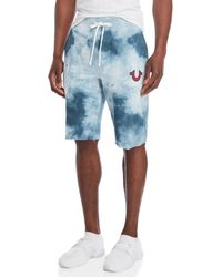 True Religion - Tie-dye Cutoff Drawstring Shorts - Lyst