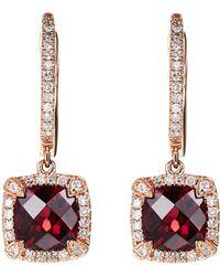 Effy - 14K Rose Gold Drop Earrings - Lyst