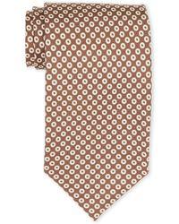 Tom Ford - Brown & White Circle Silk Tie - Lyst
