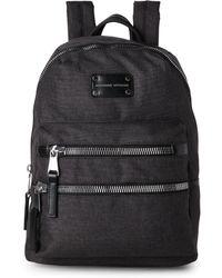 Adrienne Vittadini - Black High-Density Nylon Backpack - Lyst