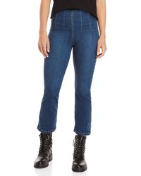 Free People - Ultra-high Pull-on Crop Jeans - Lyst
