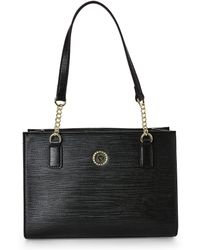 Anne Klein - Black Embossed City Dweller Small Tote - Lyst