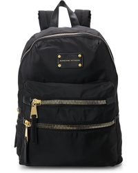 Adrienne Vittadini - Black & Gold Large Nylon Backpack - Lyst