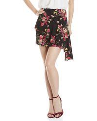 Lush | Floral Asymmetrical Ruffle Skirt | Lyst