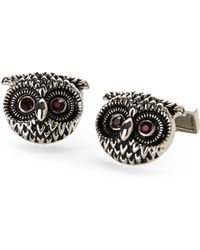 Bugatchi - Silver-Tone Owl Cuff Links - Lyst