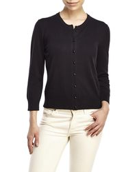 Cable & Gauge - Button-Front Cardigan - Lyst