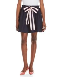 Love Moschino - Navy Ribbon Bow High-waisted Skirt - Lyst