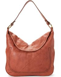 Frye - Saddle Campus Rivet Leather Hobo - Lyst