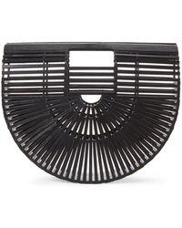 Moda Luxe - Black Ciara Petite Wood-inspired Clutch - Lyst
