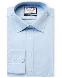 84ae9e61 Thomas Pink Plato Check Dress Shirt - Regular Fit in Orange for Men - Lyst