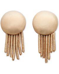 Catherine Stein - Gold-Tone Circle Fringe Earrings - Lyst
