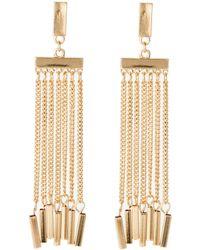 Catherine Stein - Gold-Tone Fringe Earrings - Lyst