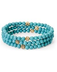 Catherine Stein - Set Of 3 Turquoise-Tone Bracelets - Lyst