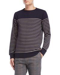 Dstrezzed - Stripe Fleece Sweatshirt - Lyst