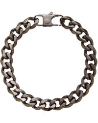 Blackjack - Hematite-Tone Linked Bracelet - Lyst