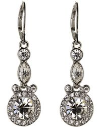 Givenchy - Accented Silver-Tone Drop Earrings - Lyst