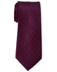 22d93d46bece Calvin Klein - Pin Dot Silk Tie - Lyst
