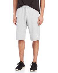PUMA - Drawstring Logo Shorts - Lyst