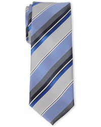 Kenneth Cole Reaction - Stripe Slim Silk Tie - Lyst