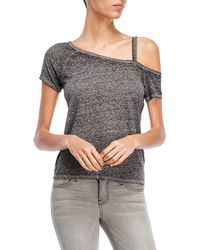 Derek Heart - One-shoulder Melange Tee - Lyst