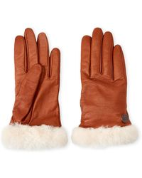 UGG - Real Fur Shearling Gloves - Lyst