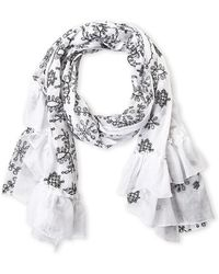 Betsey Johnson - Embroidered Fashion Scarf - Lyst