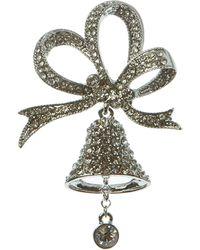 Ak Anne Klein - Silver-Tone Bell Pin - Lyst