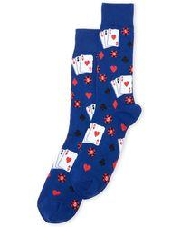 Hot Sox - Gambling Print Crew Socks - Lyst
