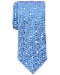 Calvin Klein - Waffle Dot Slim Silk Tie - Lyst