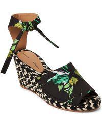 Proenza Schouler - Black Ankle-tie Wedge Espadrilles - Lyst