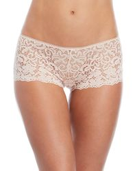 DKNY - Lace Cheeky Boyshorts - Lyst