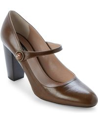 Marc Jacobs - Olive Leather Mary Jane Pumps - Lyst