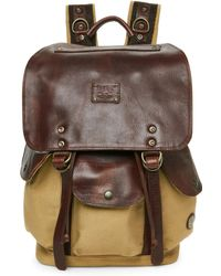 Will Leather Goods - Canvas & Leather Lennon Backpack - Lyst