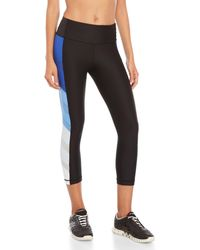 0afd099cba 90 Degree By Reflex High-Waist Tricot Insert Leggings in Blue - Lyst
