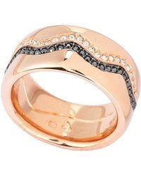 Swarovski - Rose Gold-tone Demi Ring - Lyst