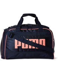 "PUMA - 19"" Navy & Pink Dispatch Duffel - Lyst"