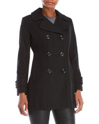 Anne Klein - Petite Double-breasted Coat - Lyst