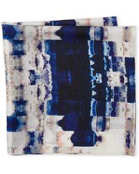 Laundry by Shelli Segal - Geo Print Silk Scarf - Lyst