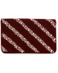 La Regale - Jeweled Stripe Velvet Clutch - Lyst