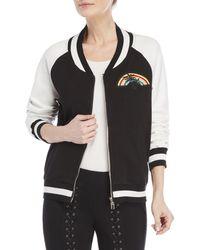 Pam & Gela - Rainbow Patch Bomber Jacket - Lyst