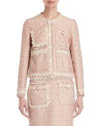 Erika Cavallini Semi Couture - Tweed Soutache Trim Jacket - Lyst
