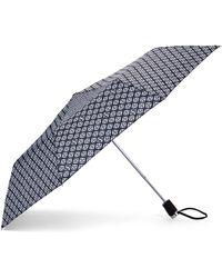 Adrienne Vittadini - Black & White Auto Open Umbrella - Lyst