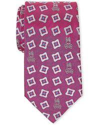 Psycho Bunny - Pink Fancy Print Silk Tie - Lyst