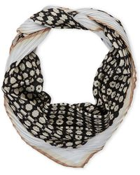 Vince Camuto | Pleated Dot Silk Scarf | Lyst