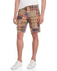 Tailor Vintage - Plaid Pathwork Shorts - Lyst
